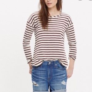 Madewell setlist striped pullover top